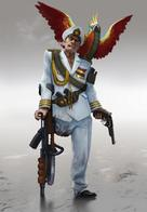chainsaw cigar crutch gun hat parrot pistol rifle uniform // 657x950 // 54.1KB