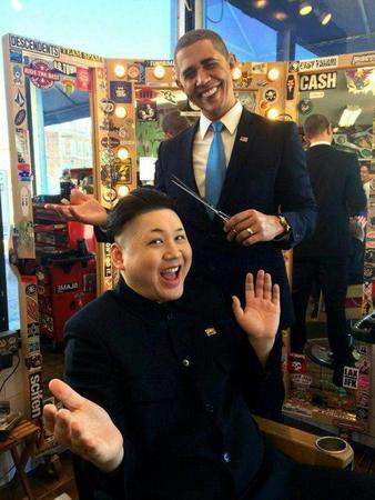 barack_obama haircut humor kim_jung_un photo // 600x800 // 79.2KB