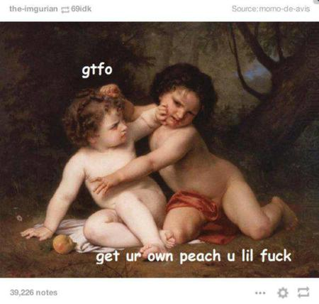 baby fight humor macro peach // 600x570 // 41.4KB