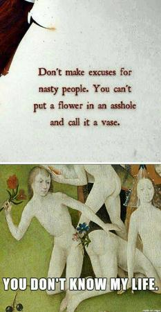 composite flower humor medieval quote vase // 600x1158 // 103.6KB
