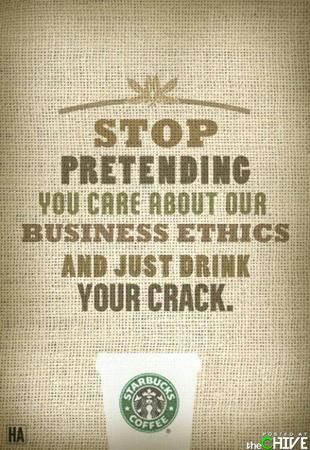 coffee crack humor starbucks // 500x726 // 88.0KB