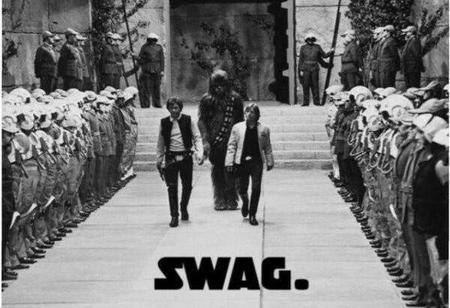 bw chewbacca han_solo luke_skywalker star_wars swag // 600x411 // 45.6KB