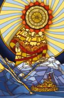 city mountains stained_glass sun // 646x983 // 1.2MB