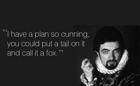 blackadder bw fox macro plan quote // 600x370 // 20.9KB