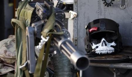 gun helmet machinegun mask photo skull // 600x350 // 45.6KB