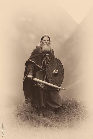 beard photo saxon seax shield sword // 427x640 // 89.8KB