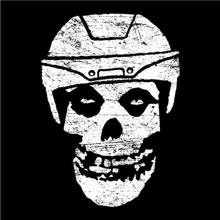 bw helmet hockey skull the_misfits // 692x692 // 198.5KB