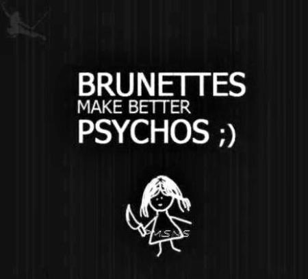 brunette bw psycho quote // 400x362 // 17.3KB