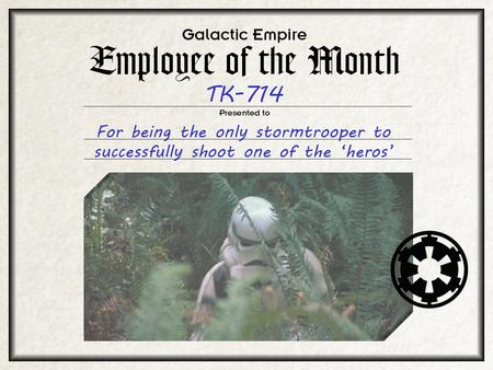 animated employee_of_the_month humor return_of_the_jedi stormtrooper // 1024x768 // 2.4MB