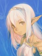 blonde elf white_hair // 600x800 // 391.2KB