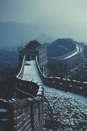 china great_wall photo scenery snow // 500x750 // 139.4KB