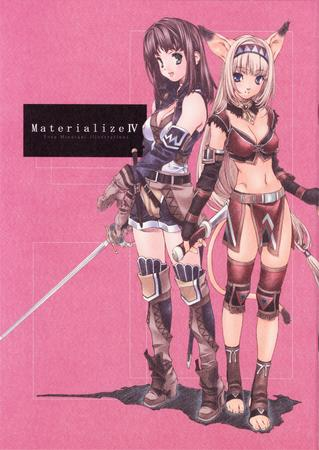 cover dagger doujinshi ffxi final_fantasy hume mithra nekomimi tasteful thighhighs // 2150x3035 // 1.5MB