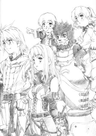 bw doujinshi ffxi final_fantasy galka group hume sketch tarutaru tasteful // 2150x3035 // 1.4MB