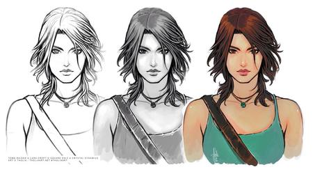 brunette composite lara_croft sketch tank_top tomb_raider // 1200x666 // 155.1KB