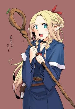 blonde blue_eyes elf long_hair robe staff // 373x542 // 31.0KB