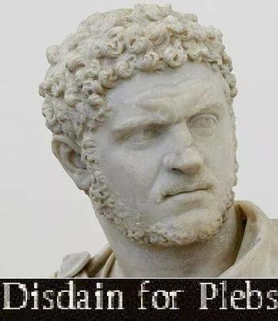 beard caracalla plebs reaction rome statue // 400x462 // 25.6KB