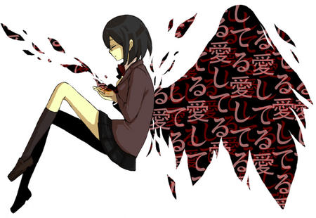 brunette durarara glasses jacket pleated_skirt short_skirt skirt sonohara_anri wings // 673x464 // 104.5KB
