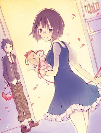 brunette dress durarara flower glasses sonohara_anri // 944x1244 // 245.2KB