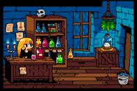 alchemist animated candles rain shop skull // 500x332 // 702.6KB