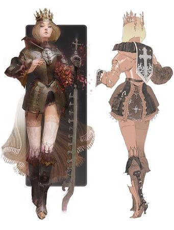 armor boots crown high_heels shorts short_shorts sword_breaker thighhighs // 736x970 // 169.0KB