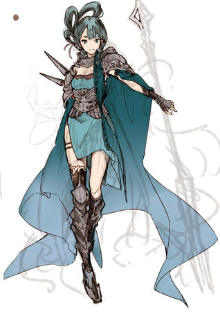 cape dress gloves sketch spear staff // 2480x3507 // 596.7KB