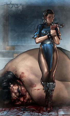 blood boots brunette chun-li dress e_honda street_figher // 1244x2048 // 181.4KB