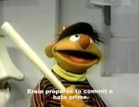 baseball_bat ernie hat hate_crime sesame_street subtitle // 700x535 // 42.9KB