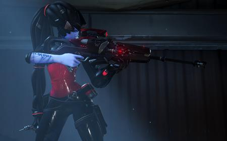 cg dreadlocks long_hair overwatch rifle sniper widowmaker // 3840x2400 // 3.3MB