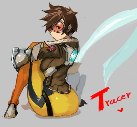 brunette goggles jacket overwatch short_hair tracer // 600x554 // 56.0KB