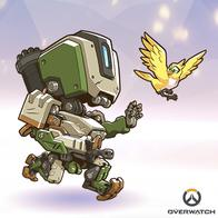 bastion bird overwatch robot super_deformed // 400x400 // 195.5KB