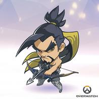 arrow bow hanzo overwatch ponytail scarf super_deformed // 400x400 // 167.3KB