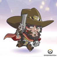 beard cigar cowboy gun hat mccree overwatch poncho revolver super_deformed // 400x400 // 166.4KB
