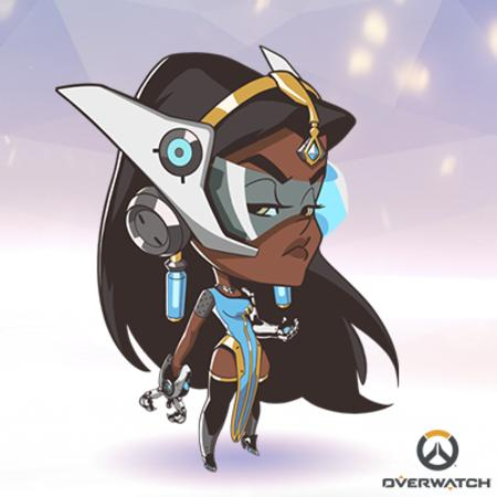 brunette cyborg dbg dress long_hair overwatch superdeformed thighhighs // 400x400 // 160.1KB