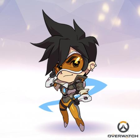 brunette gloves goggles jacket overwatch super_deformed tracer // 400x400 // 155.2KB