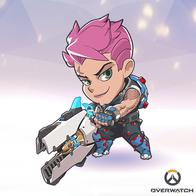 green_eyes overwatch pink_hair superdeformed // 400x400 // 180.0KB