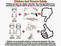 children guns machinegun mortar pistol revolver rifle safety // 835x635 // 146.5KB