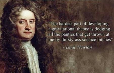 gravity humor newton quote // 600x385 // 33.9KB