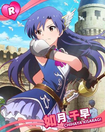 basket_hilt brown_eyes gloves idol_master kisaragi_chihaya long_hair purple_hair short_skirt skirt sword // 640x800 // 92.0KB