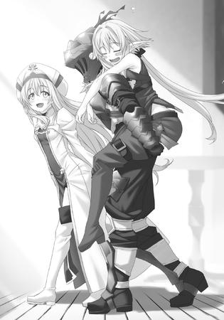 armor bw cleric elf goblin_slayer helmet hug long_hair // 1735x2478 // 496.5KB
