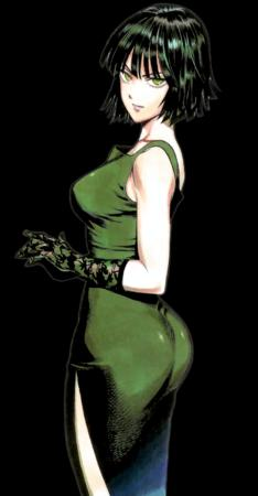 brunette dress fubuki gloves gown green_eyes one_punch_man // 832x1600 // 1.2MB