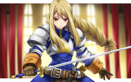 agias armor blonde braids crossguard fft gauntlets long_hair sword // 1280x800 // 288.6KB