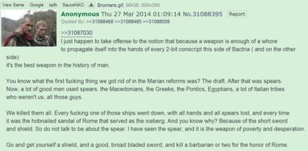 4chan reaction rome spear sword // 1395x682 // 141.7KB