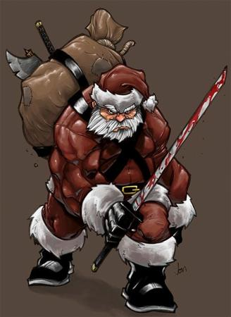 beard blood boots hat katana santa sword // 500x687 // 46.6KB