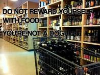 booze dog motivational supermarket // 500x373 // 53.6KB