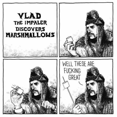 bw comic humor marshmallow vlad_the_impaler // 840x840 // 104.1KB