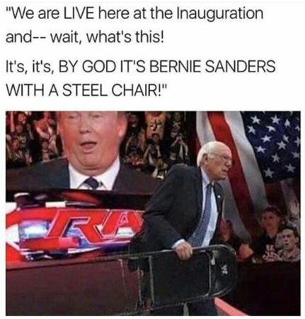 bernie_sanders donald_trump folding_chair humor wwe // 1052x1098 // 1020.4KB