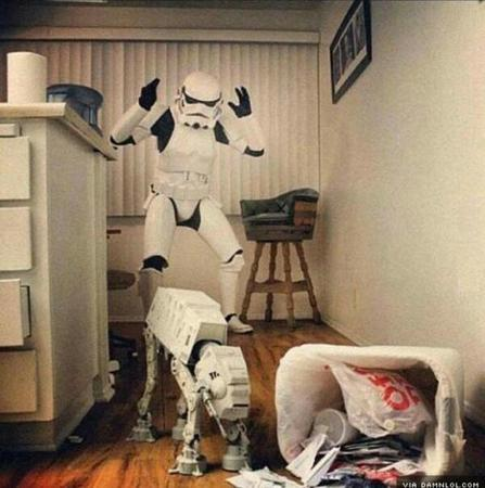 at-at dog humor star_wars stormtrooper // 600x604 // 46.8KB