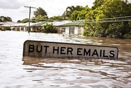 emails flood hillary_clinton photo political sign // 549x371 // 32.8KB