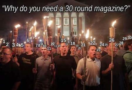 alt-right guns humor nazi photo political tiki torch // 480x327 // 20.8KB