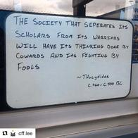 quote scholar thucydides warrior whiteboard // 1080x1080 // 70.8KB